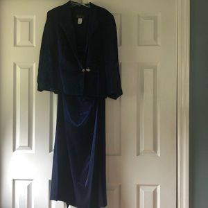 Alex Evenings 2 Piece Maxi Royal/Navy Blue